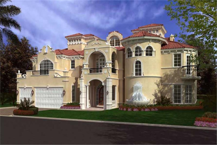 Luxury home with 6 bdrms 8441 sq ft floor plan 107 1035 for 3000 sq ft mediterranean house plans