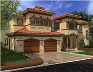 Luxury house plans color front photo.