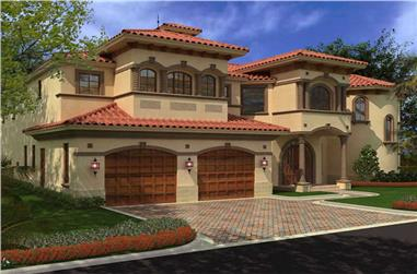 4-Bedroom, 6835 Sq Ft Luxury Home Plan - 107-1036 - Main Exterior