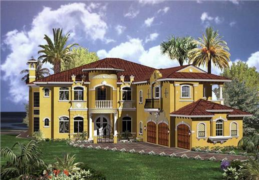 Luxury House Plans AA6714-0270 color image.