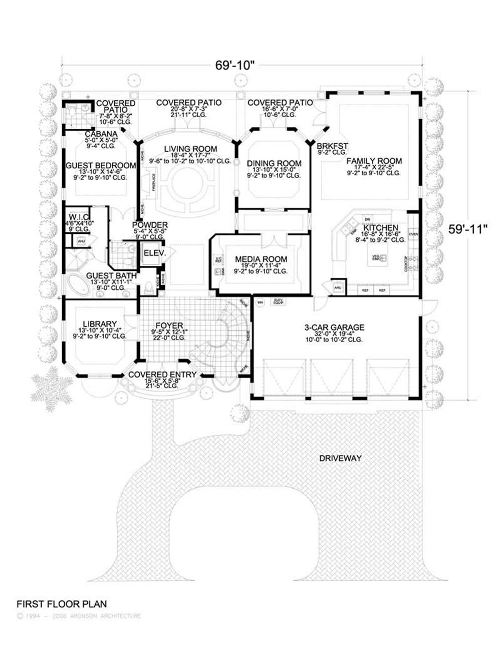 HOME PLAN AA MAIN FLOOR PLAN