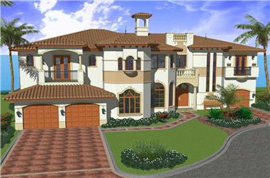 5-Bedroom, 6096 Sq Ft Luxury Home Plan - 107-1040 - Main Exterior