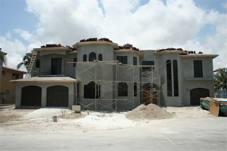 Front Elevation of this 5-Bedroom,6096 Sq Ft Plan -6096