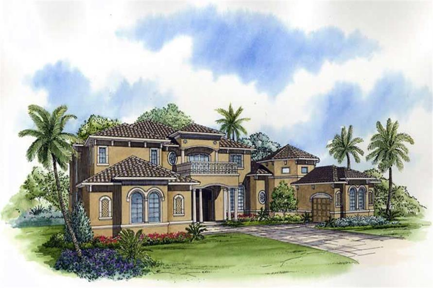 4-Bedroom, 5604 Sq Ft Luxury House Plan - 107-1042 - Front Exterior