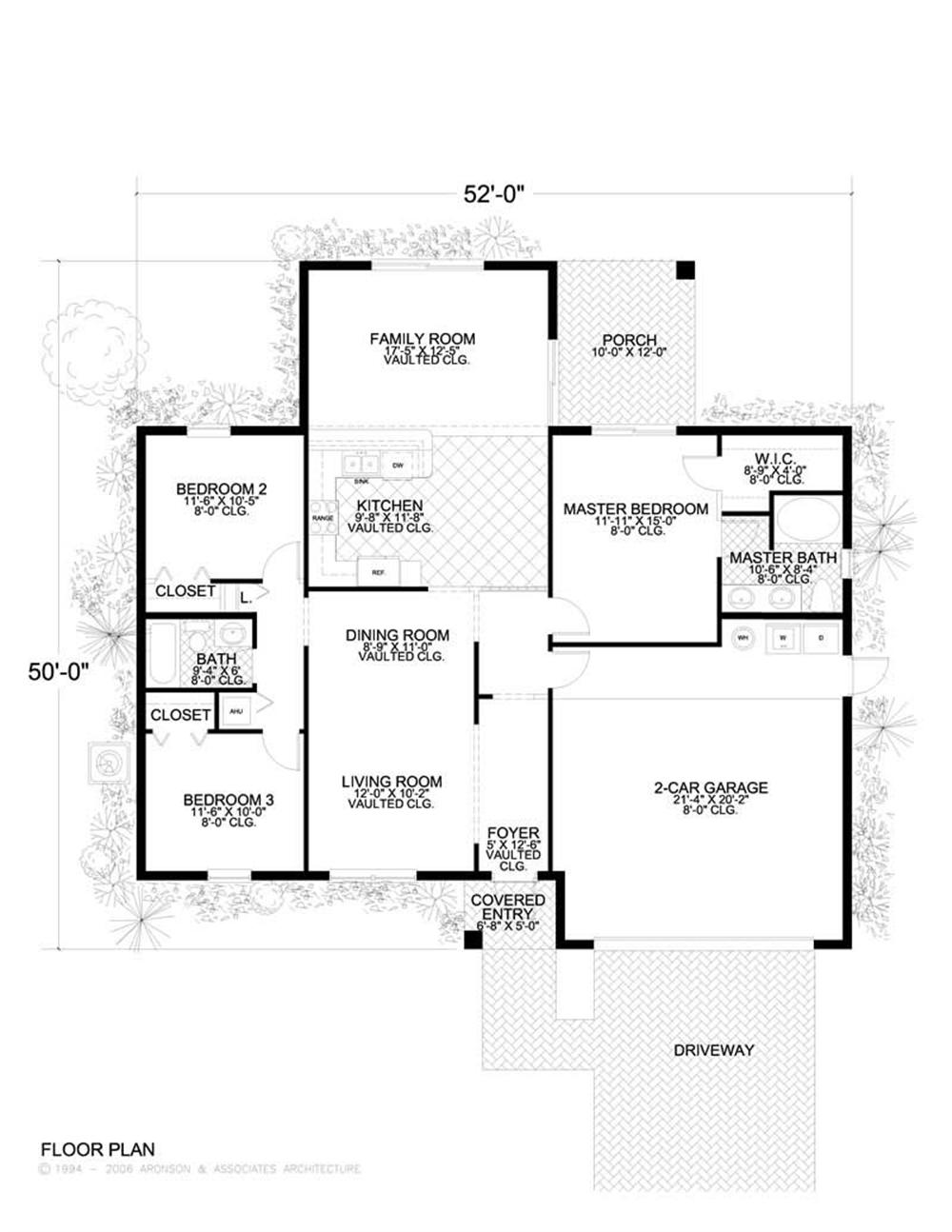 House Plan AA-1552-9867 Main Floor Plan