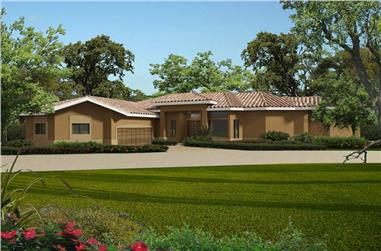 2-Bedroom, 3174 Sq Ft Contemporary House Plan - 107-1048 - Front Exterior