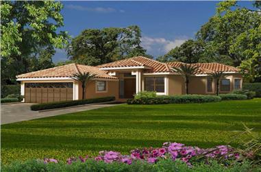 3-Bedroom, 2870 Sq Ft Florida Style Home Plan - 107-1050 - Main Exterior