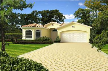4-Bedroom, 2466 Sq Ft Florida Style House Plan - 107-1054 - Front Exterior