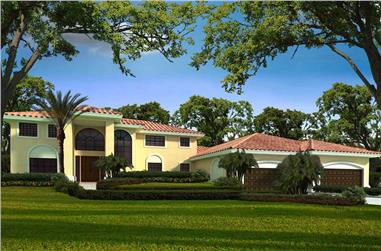3-Bedroom, 5792 Sq Ft Florida Style Home Plan - 107-1059 - Main Exterior
