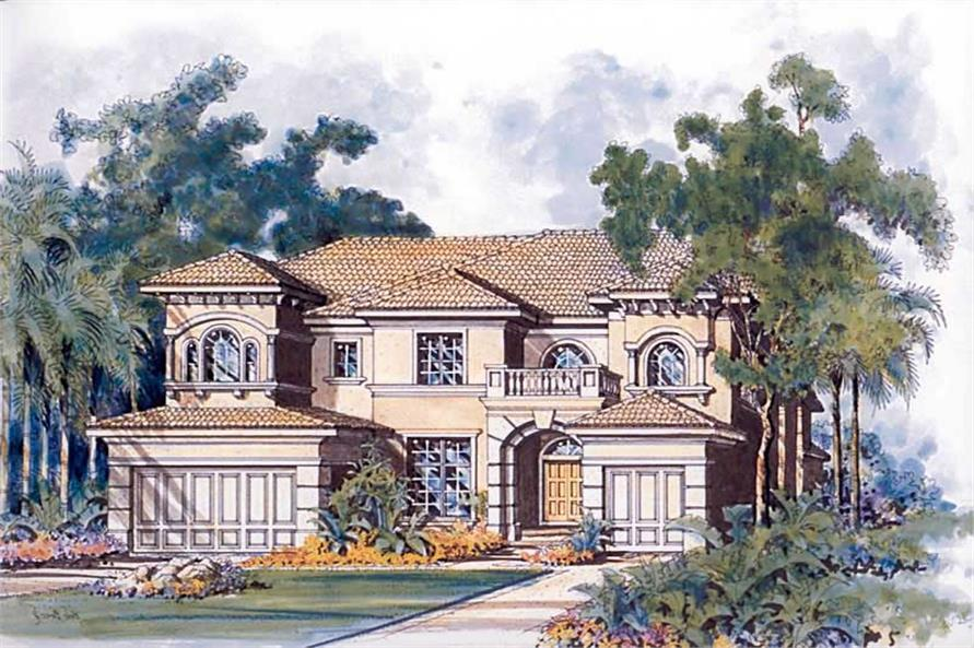 1-Bedroom, 5981 Sq Ft Luxury Home Plan - 107-1061 - Main Exterior