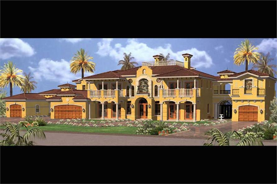 6-Bedroom, 6904 Sq Ft Coastal Home Plan - 107-1074 - Main Exterior