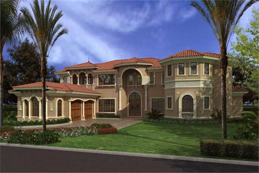 Rendering of this 7-Bedroom,7502 Sq Ft Plan -7502