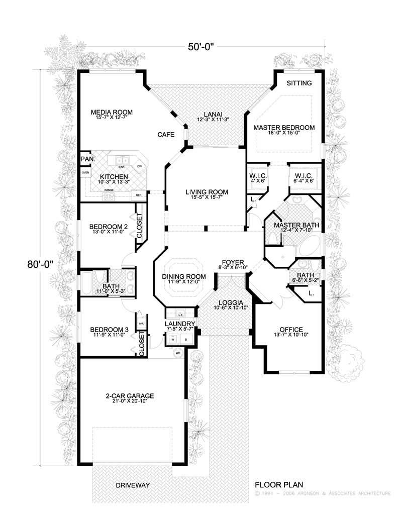 Mediterranean home with 4 bdrms 3303 sq ft floor plan for 1077 marinaside crescent floor plan