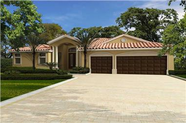 4-Bedroom, 3080 Sq Ft Florida Style Home Plan - 107-1078 - Main Exterior