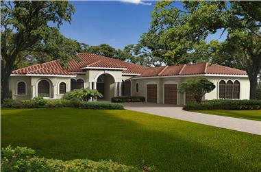 5-Bedroom, 5699 Sq Ft Mediterranean Home Plan - 107-1079 - Main Exterior