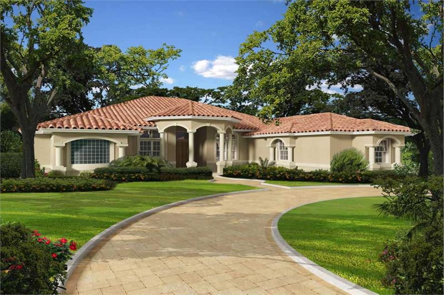 Florida style home with 5 bdrms 5565 sq ft floor plan for Florida house designs