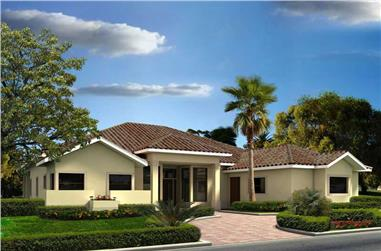 4-Bedroom, 4682 Sq Ft Contemporary Home Plan - 107-1081 - Main Exterior