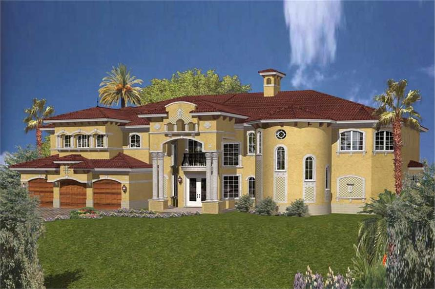 Home Plan Rendering of this 6-Bedroom,7100 Sq Ft Plan -107-1085