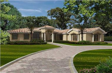 3-Bedroom, 4786 Sq Ft Florida Style Home Plan - 107-1089 - Main Exterior