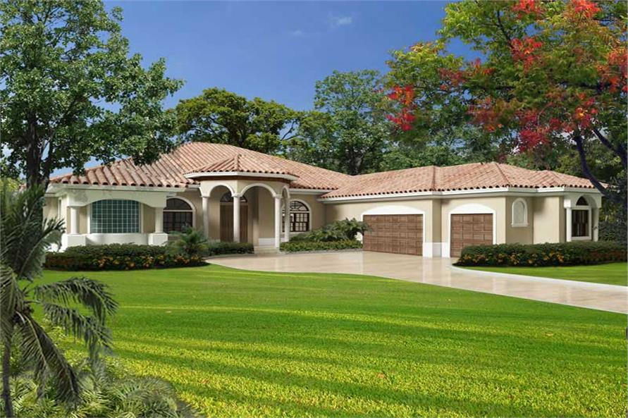 Florida Style Home Plan 5 Bedrms 3 5 Baths 6114 Sq Ft 107 1094