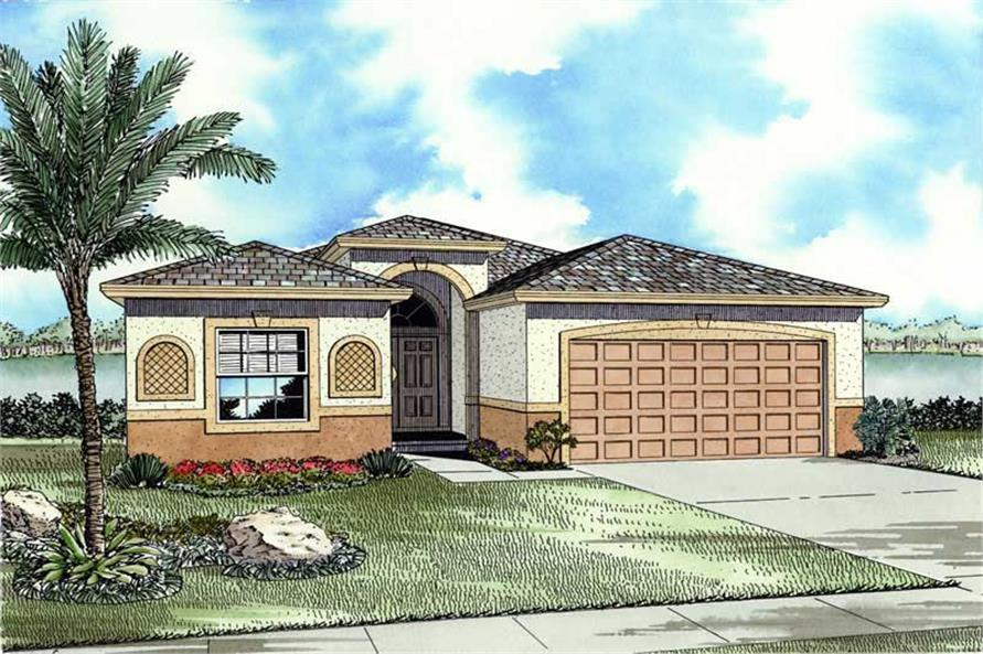 Front Elevation of this 3-Bedroom,1619 Sq Ft Plan -1619