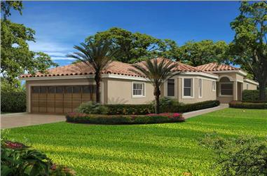 3-Bedroom, 3171 Sq Ft Florida Style Home Plan - 107-1098 - Main Exterior