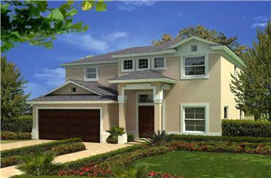 3-Bedroom, 1916 Sq Ft Mediterranean House Plan - 107-1099 - Front Exterior