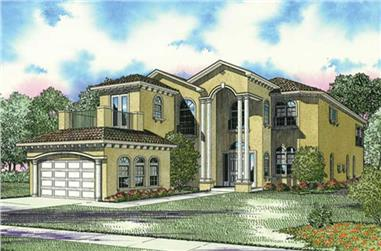 4-Bedroom, 4718 Sq Ft Mediterranean Home Plan - 107-1106 - Main Exterior