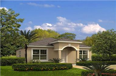 3-Bedroom, 1474 Sq Ft Mediterranean Home Plan - 107-1108 - Main Exterior