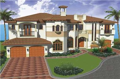 5-Bedroom, 6096 Sq Ft Luxury House Plan - 107-1109 - Front Exterior