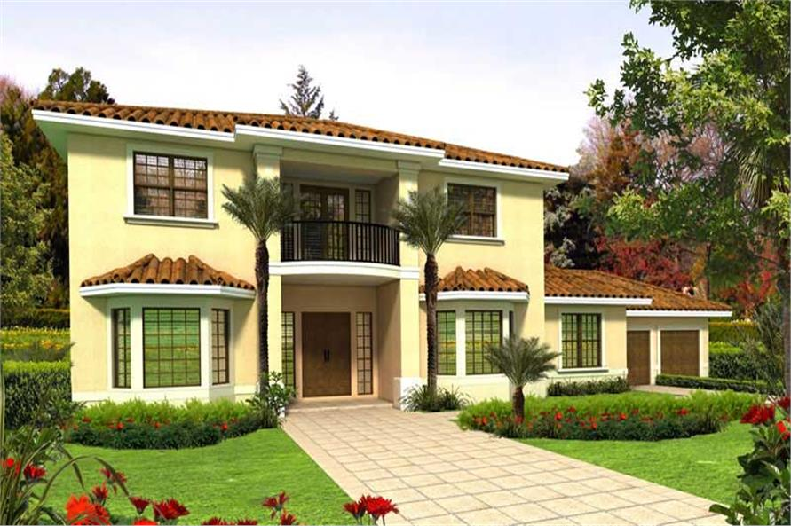 6-Bedroom, 4894 Sq Ft Mediterranean House Plan - 107-1112 - Front Exterior