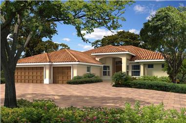 3-Bedroom, 2895 Sq Ft Mediterranean House Plan - 107-1113 - Front Exterior