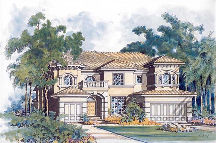 Home Plan Rendering of this 5-Bedroom,4779 Sq Ft Plan -107-1119
