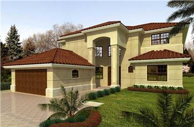 5-Bedroom, 3543 Sq Ft Mediterranean Home Plan - 107-1122 - Main Exterior