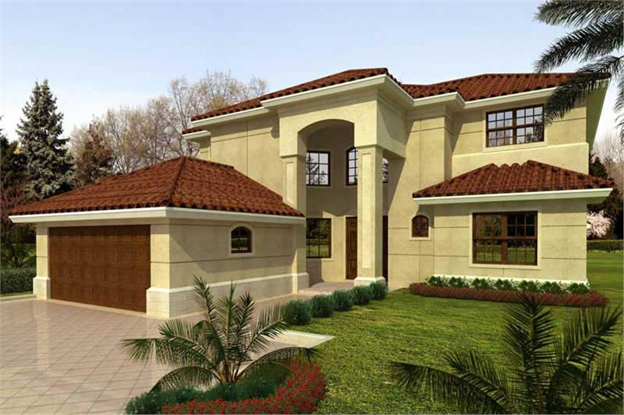 5-Bedroom, 3543 Sq Ft Mediterranean Home Plan - 107-1122 - Main Exterior