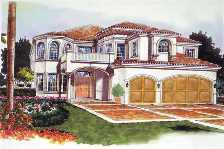 5-Bedroom, 4688 Sq Ft Mediterranean House Plan - 107-1134 - Front Exterior