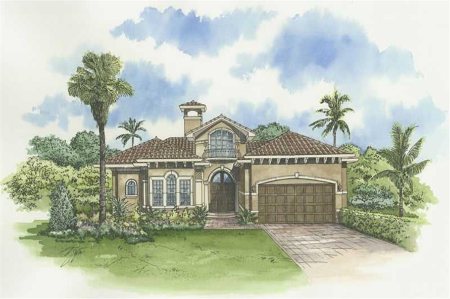 3-Bedroom, 3264 Sq Ft Mediterranean House Plan - 107-1141 - Front Exterior