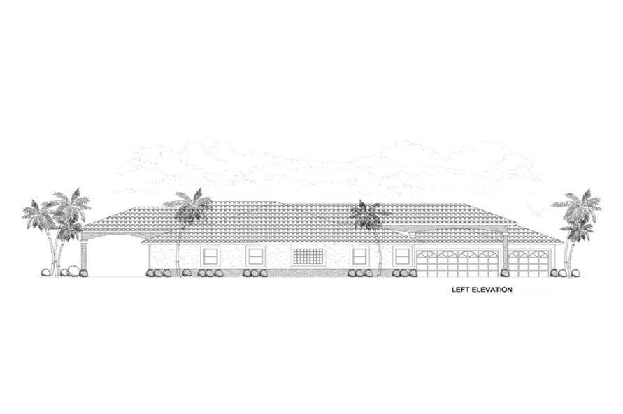 107-1145: Home Plan Left Elevation