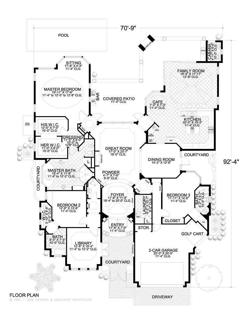 Mediterranean home with 3 bdrms 3446 sq ft house plan for 1150 sq ft house plans