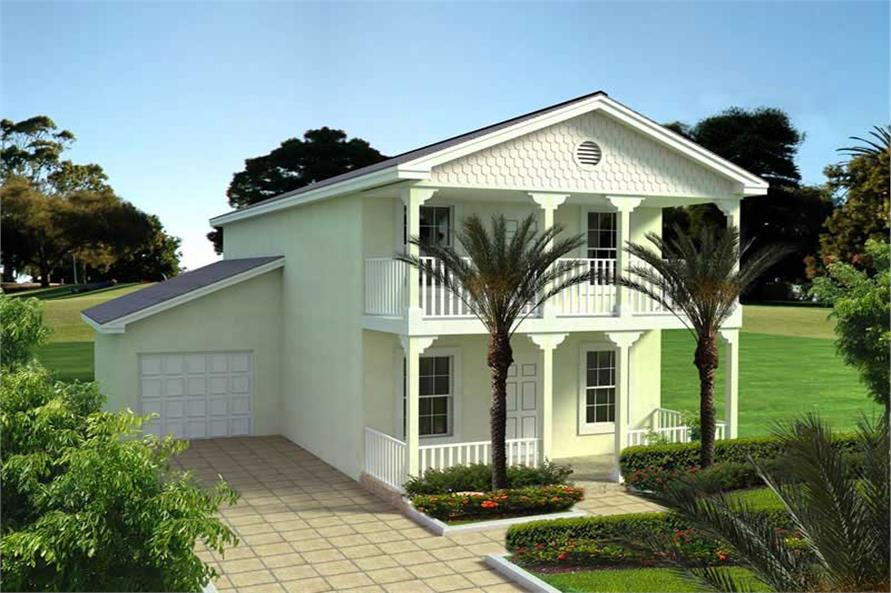 3-Bedroom, 1478 Sq Ft Mediterranean Home Plan - 107-1151 - Main Exterior
