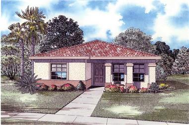 4-Bedroom, 1663 Sq Ft Mediterranean House Plan - 107-1160 - Front Exterior
