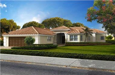 3-Bedroom, 2704 Sq Ft Mediterranean House Plan - 107-1164 - Front Exterior