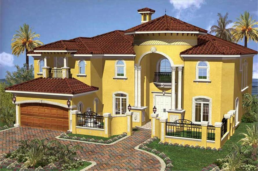Front Elevation of this 6-Bedroom,4882 Sq Ft Plan -4882