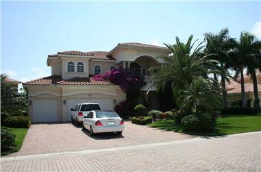 4-Bedroom, 5030 Sq Ft Mediterranean Home Plan - 107-1166 - Main Exterior