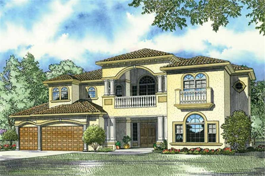 Home Plan Rendering of this 4-Bedroom,5030 Sq Ft Plan -107-1166