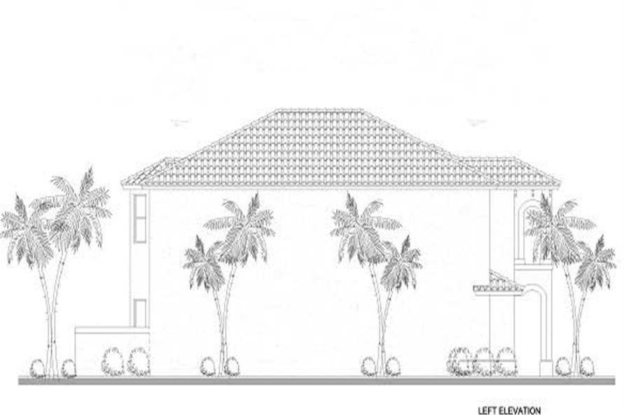 Home Plan Left Elevation of this 5-Bedroom,2647 Sq Ft Plan -107-1169
