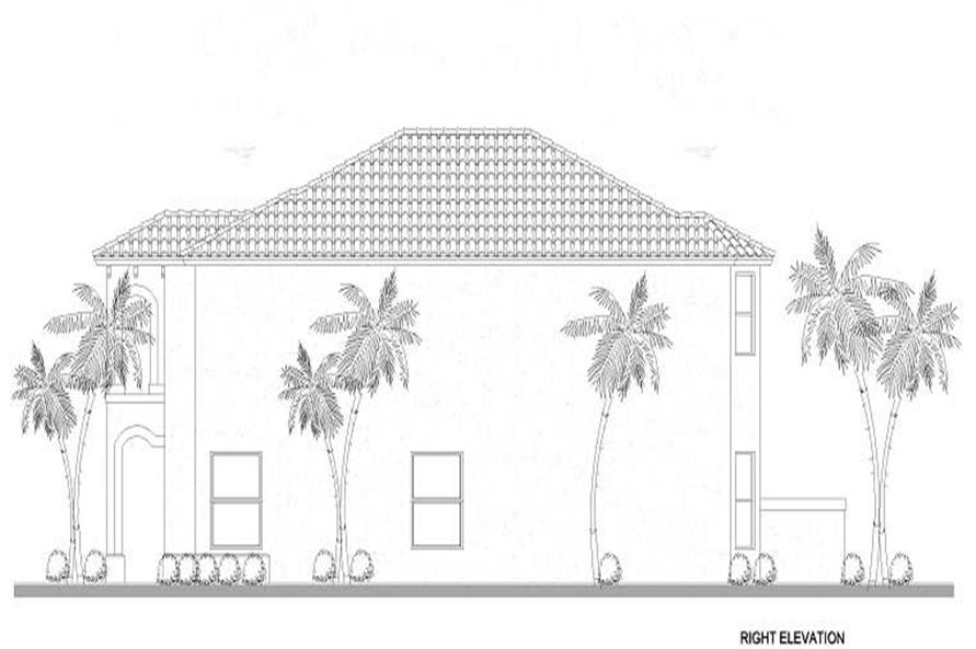 Home Plan Right Elevation of this 5-Bedroom,2647 Sq Ft Plan -107-1169