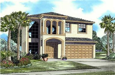 5-Bedroom, 2647 Sq Ft Mediterranean House Plan - 107-1169 - Front Exterior