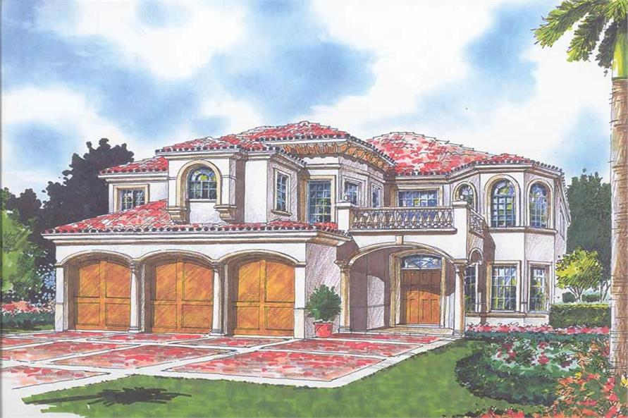 Home Plan Rendering of this 7-Bedroom,6449 Sq Ft Plan -107-1177