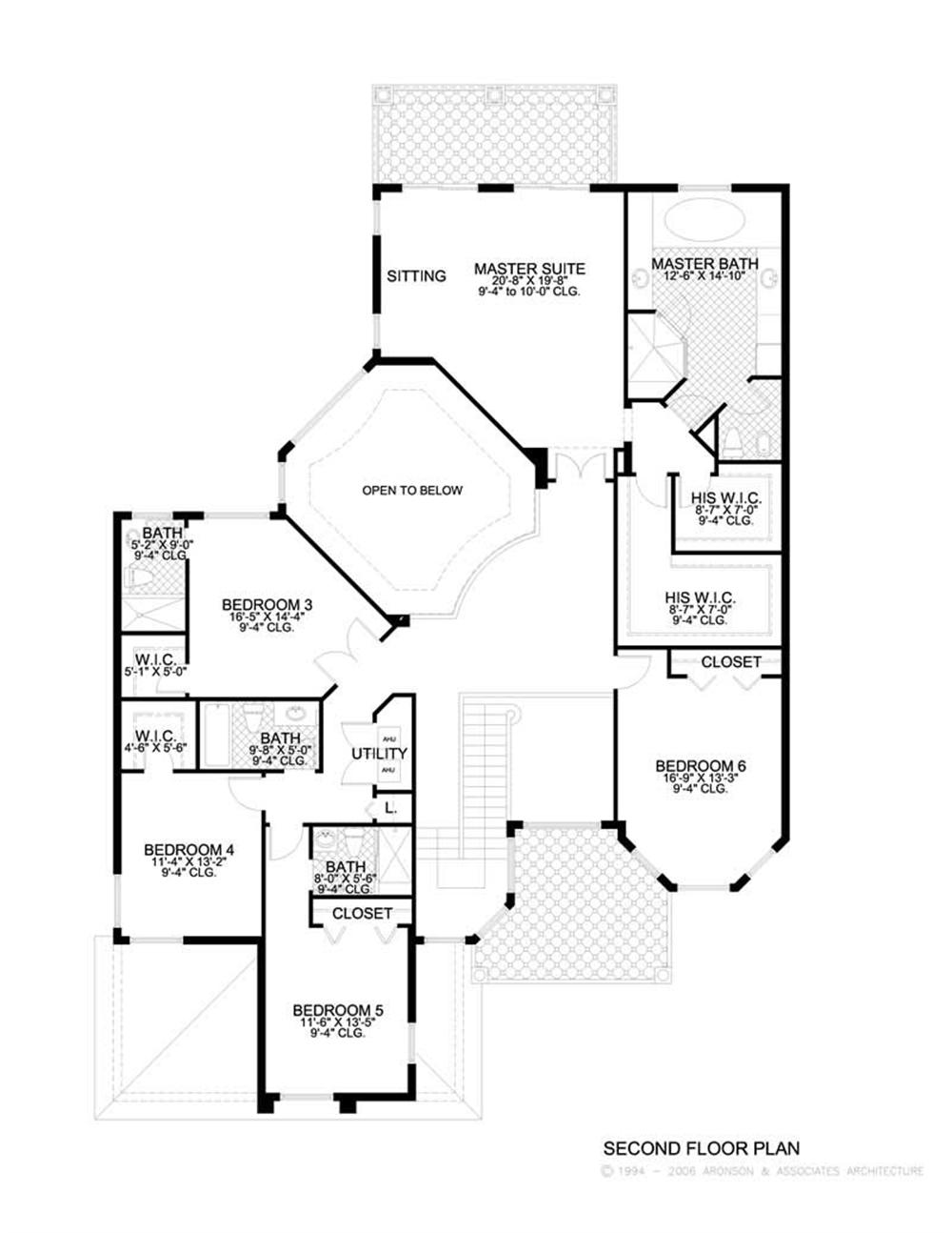 This image shows the living and areas of the upper floor plan.